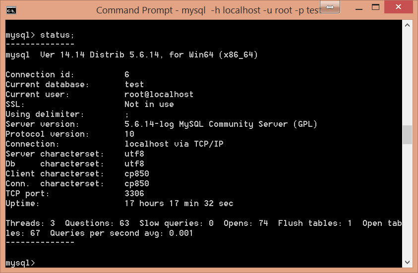 MYSQL - Identifying Current Version of MySQL Server Installation - Part 2 mysqlversion3