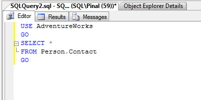 SQL SERVER - Maximizing View of SQL Server Management Studio - Full Screen - New Screen newtab1