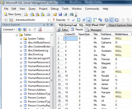 SQL SERVER - Maximizing View of SQL Server Management Studio - Full Screen - New Screen newtab4