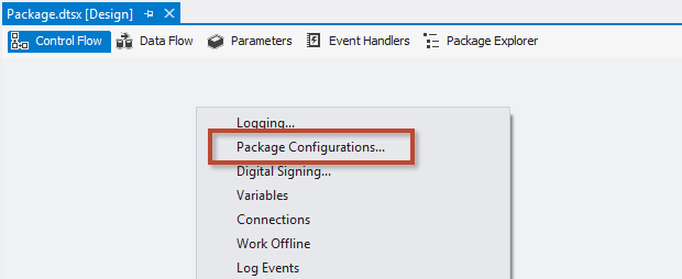 SQL SERVER - Using Package Configurations in SSIS 2012 and Beyond - Notes from the Field #079 notf-79-1