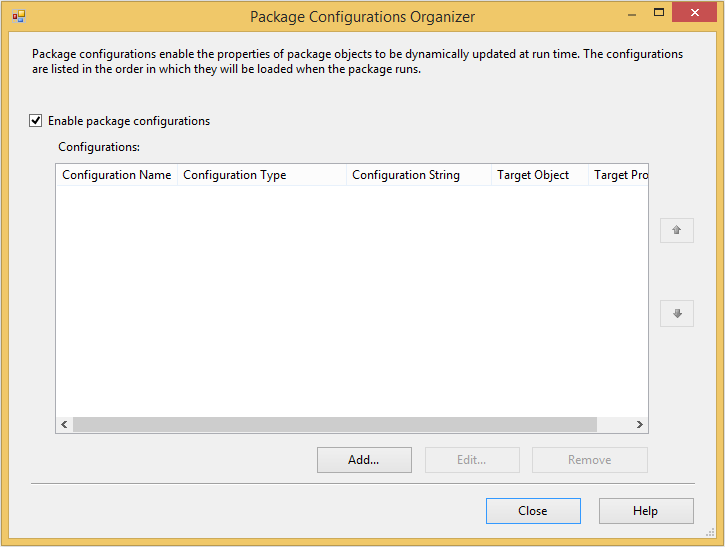 SQL SERVER - Using Package Configurations in SSIS 2012 and Beyond