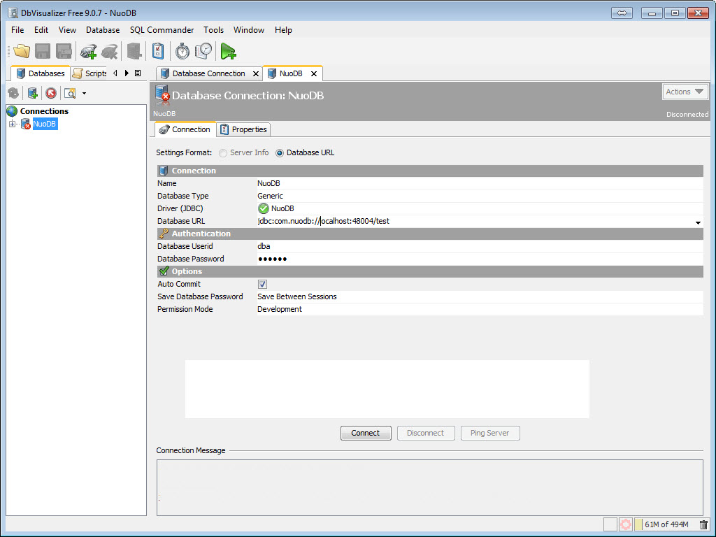 SQL - NuoDB and Third Party Explorer - SQuirreL SQL Client, SQL Workbench/J and DbVisualizer c7