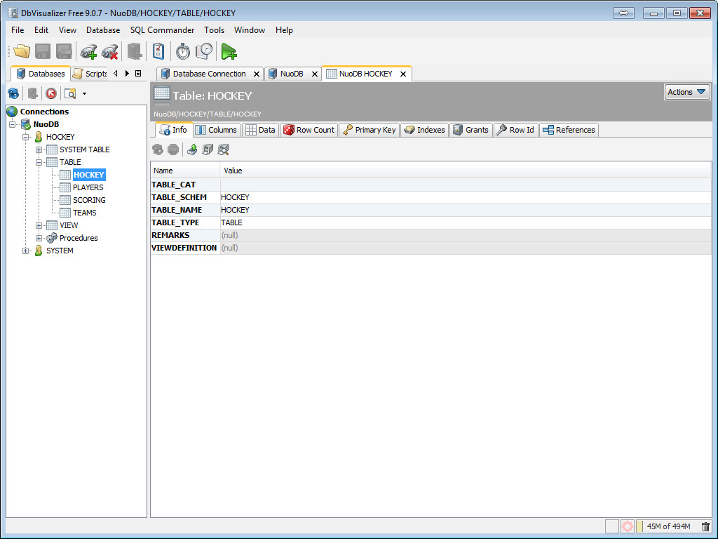 SQL - NuoDB and Third Party Explorer - SQuirreL SQL Client, SQL Workbench/J and DbVisualizer c9