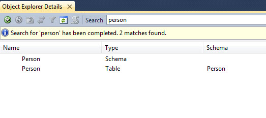 SQL SERVER - Find Anything in Object Explorer in SSMS objectsearch1