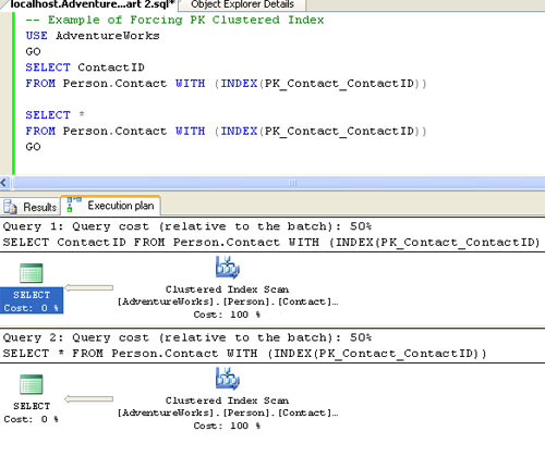SQL SERVER - Interesting Observation - Use of Index and Execution Plan orin2
