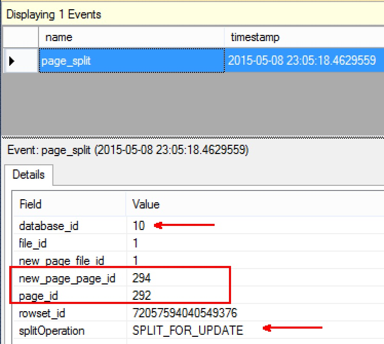 SQL SERVER - Identify Page Splits Using Extended Events in SQL Server page-splits-xEvent-02