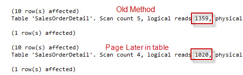 SQL SERVER - Server Side Paging in SQL Server 2012 Performance Comparison paging3