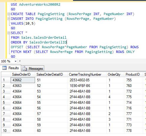 SQL SERVER - Server Side Paging in SQL Server Denali - Part2 paging4