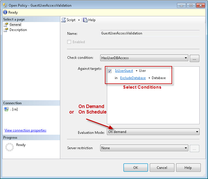 SQL SERVER - Identifying Guest User using Policy Based Management pbm5