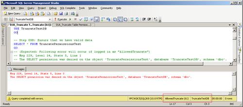 SQL SERVER - Securing TRUNCATE Permissions in SQL Server permissions4