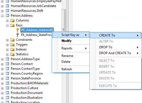 create table foreign key sql server 2008 example