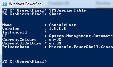 SQL SERVER – PowerShell Version Info powershell1