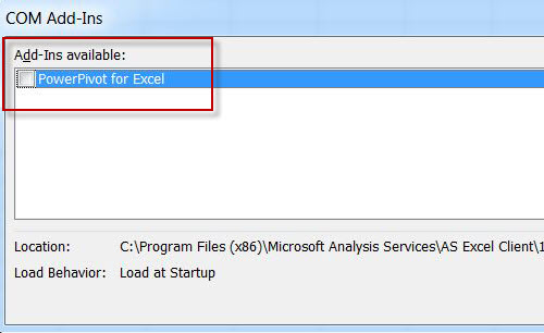 SQL SERVER - Enable PowerPivot Plugin in Excel pp5