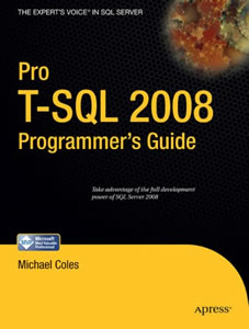 SQLAuthority Book Review - Pro T-SQL 2008 Programmer's Guide by Michael Coles protsql2008