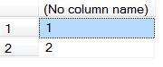SQL SERVER - Simple Puzzle with UNION - Part 2 puzzunion-1