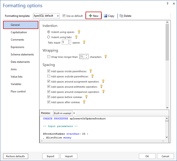 SQL SERVER - How to Format and Refactor Your SQL Code Directly in SSMS and Visual Studio image004