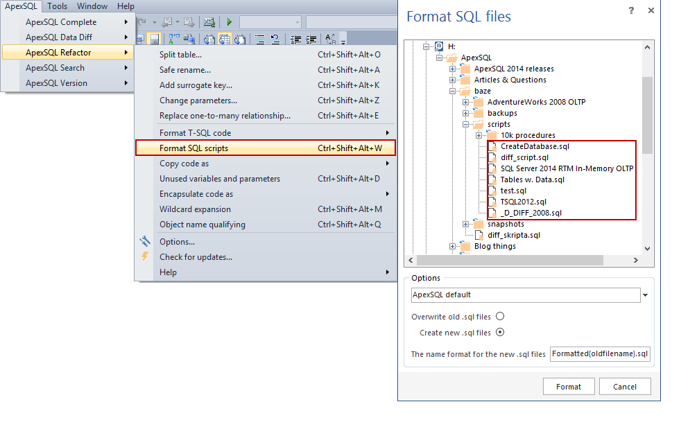 SQL SERVER - How to Format and Refactor Your SQL Code Directly in SSMS and Visual Studio image015