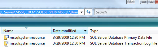 SQL SERVER - Location of Resource Database in SQL Server Editions resourcedb