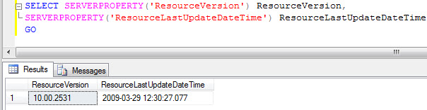 SQL SERVER - Location of Resource Database in SQL Server Editions resourcedbver
