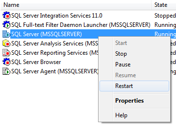 SQL SERVER - DQS Error - Cannot connect to server - A .NET Framework error occurred during execution restartservices