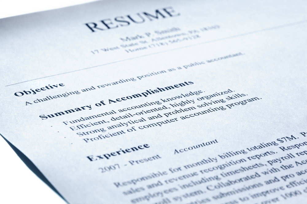 Professional Development - Difference Between Bio, CV and Resume resume-example