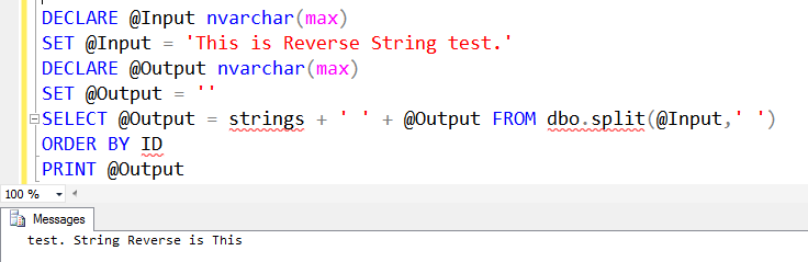 SQL SERVER - Reverse String Word By Word - Part 2 reverse-string-test