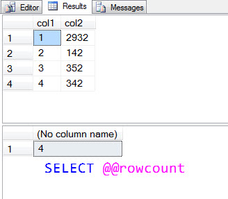SQL SERVER - Effect of SET NOCOUNT on @@ROWCOUNT rowcountwithnocount