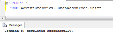 SQL SERVER - SSMS Query Command(s) completed successfully without ANY Results setparseonly1