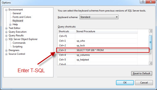 SQL SERVER - SELECT TOP Shortcut in SQL Server Management Studio (SSMS) shortcut2