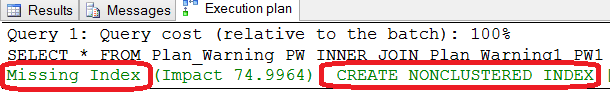 SQL SERVER - Introduction of Showplan Warning showplan1