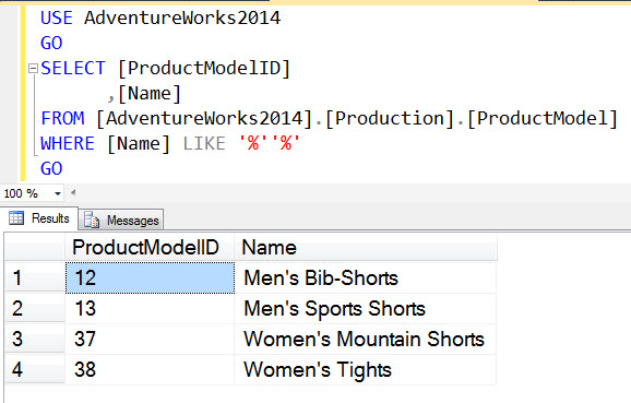 SQL SERVER - Search Records with Single Quotes singlequotes2