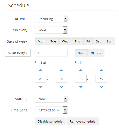 SQL SERVER - Integrate Your Data with Skyvia - Cloud ETL Solution defined-schedule