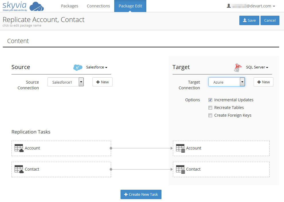 SQL SERVER - Integrate Your Data with Skyvia - Cloud ETL Solution replication-package