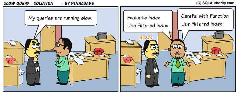 SQL SERVER - Comic Slow Query - SQL Joke slowquery1