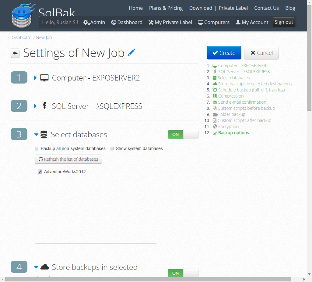 SQL SERVER - Configure, Monitor and Restore Backups from Mobile & Web browser SqlBak005