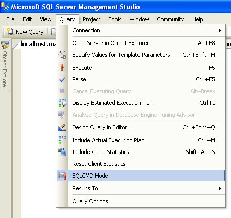 SQL SERVER - Interesting Observation - Using sqlcmd From SSMS Query Editor sqlcmd_ex
