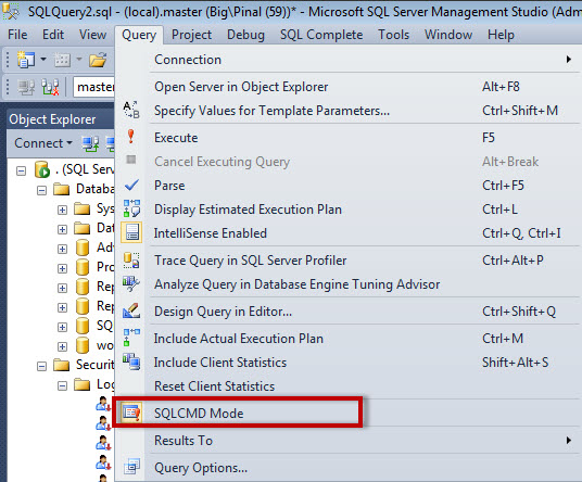SQL SERVER - Execute Operating System Commands in sqlcmd sqlcmdos2