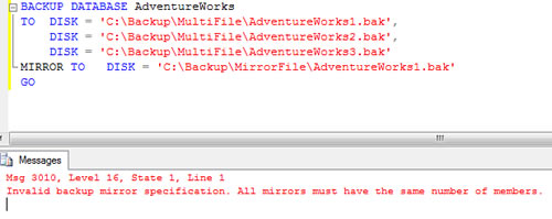 SQL SERVER - Mirrored Backup and Restore and Split File Backup - Introduction sql-mirrored-backup7