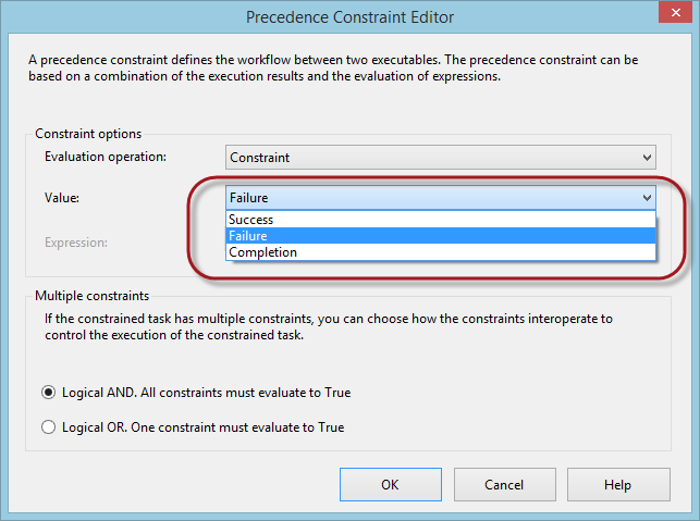 SQL SERVER - SSIS Execution Control Using Precedence Constraints - Notes from the Field #021 ssis-n21-3