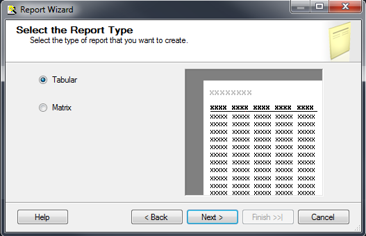 SQL SERVER - Create a Very First Report with the Report Wizard ssrs-4-5