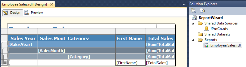 SQL SERVER - Create a Very First Report with the Report Wizard ssrs-4-9
