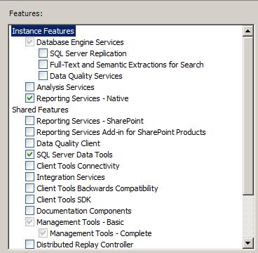 SQL SERVER - Installing SQL Server Data Tools and SSRS ssrs3-2