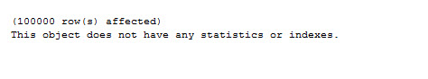 SQL SERVER - Default Statistics on Column - Automatic Statistics on Column statdef1