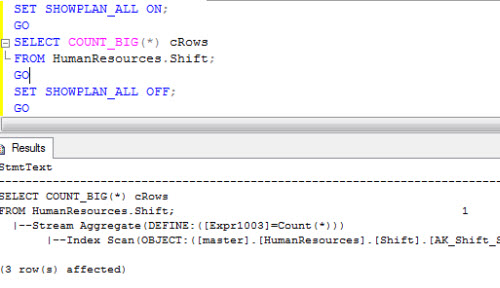 SQL SERVER - Stream Aggregate Showplan Operator - Reason of Compute Scalar before Stream Aggregate streamc
