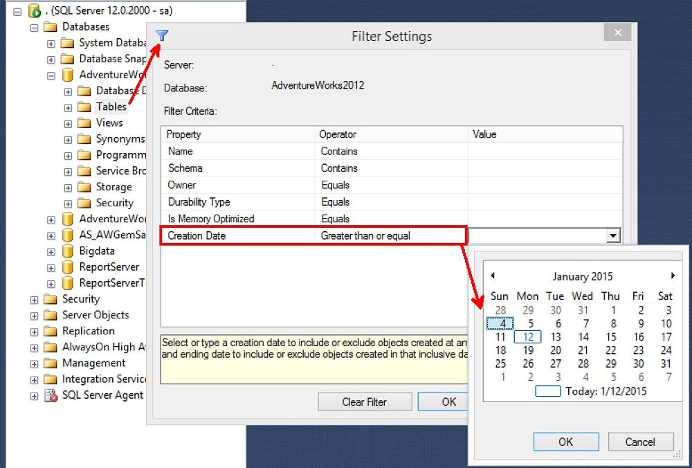 SQL SERVER - Finding Tables Created Last Week - DBA Tip Part II table-creates-last-week-03