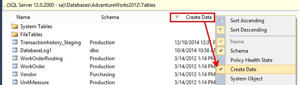 SQL SERVER - Finding Tables Created Last Week - DBA Tip Part II table-creates-last-week-04