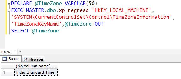 SQL SERVER - Get Current TimeZone Name in SQL Server timezonelist