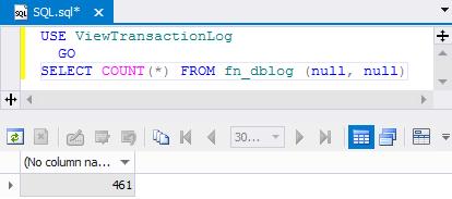 SQL SERVER - Beginning Reading Transaction Log File tlog3