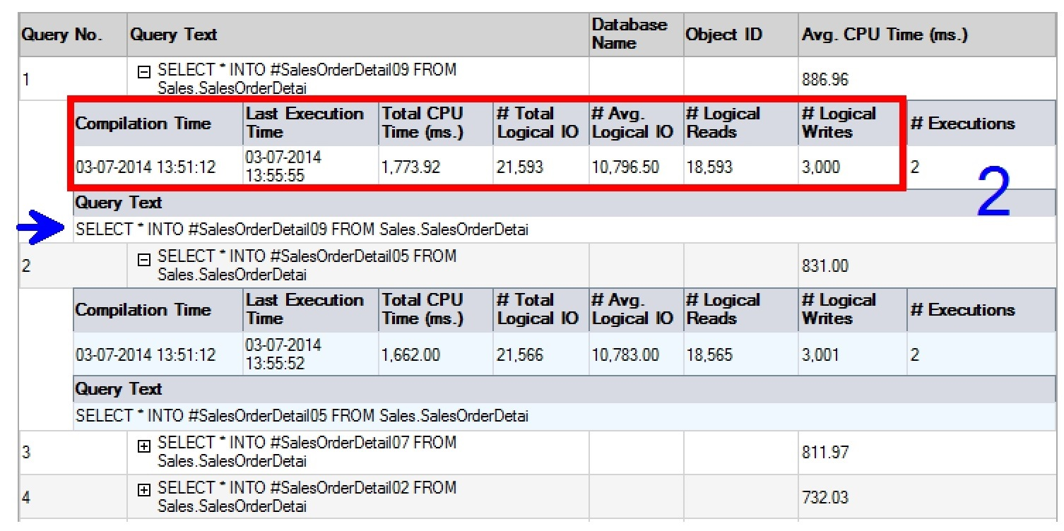 SQL SERVER - SSMS: Top Queries by CPU and IO top-Avg-CPU-2