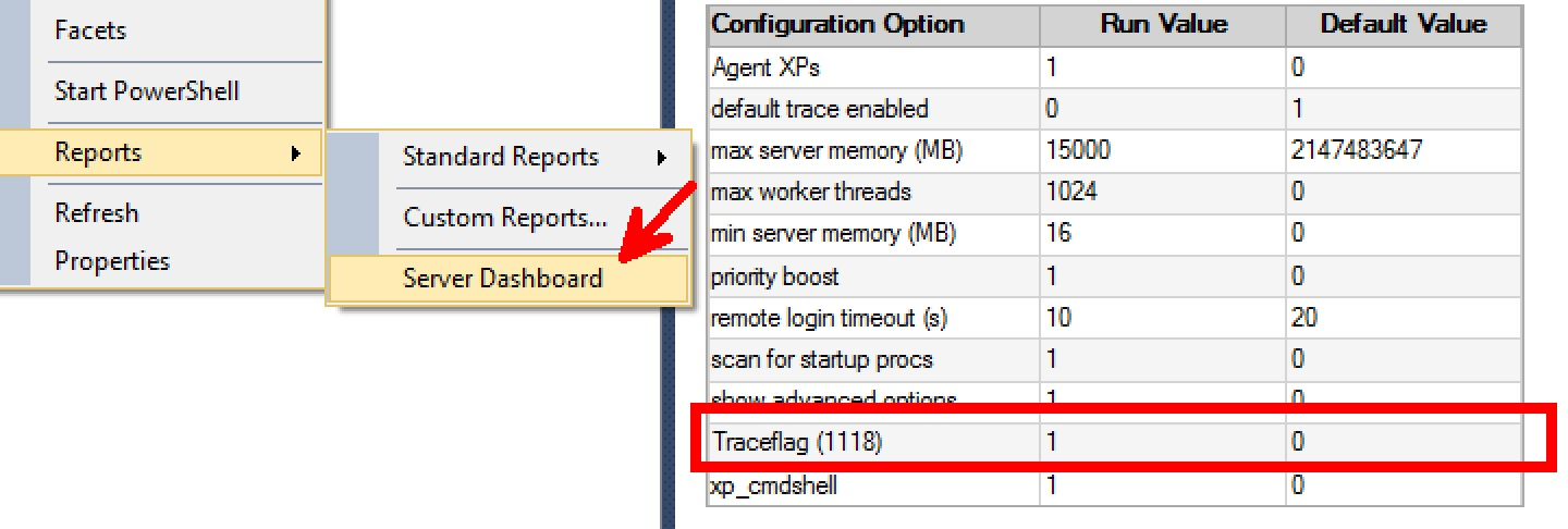 SQL SERVER - What are my Trace Flags Enabled on SQL Server? tracestatus-01
